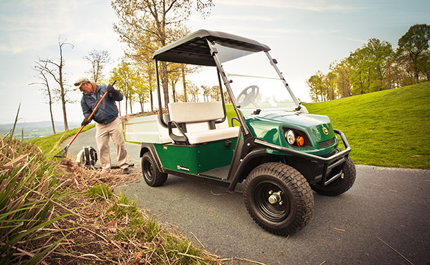 The new Cushman Hauler Pro with a 72-volt AC drivetrain.