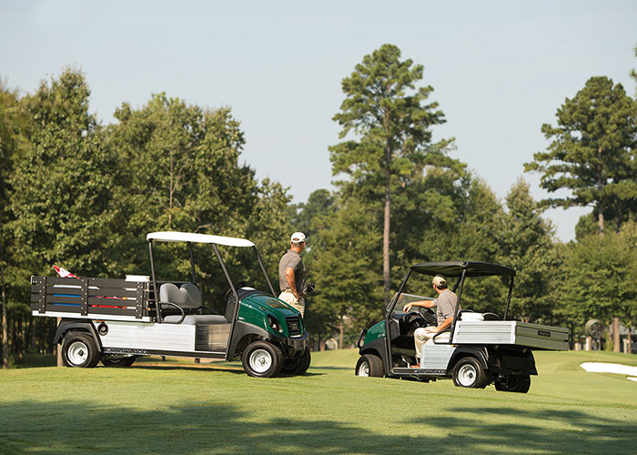 Club Car has launched a new line of Carryall UTVs.