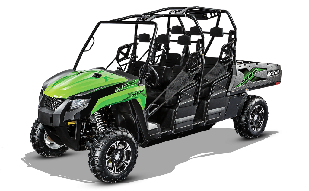 The new Arctic Cat HDX 700 Crew XT for model year 2017.