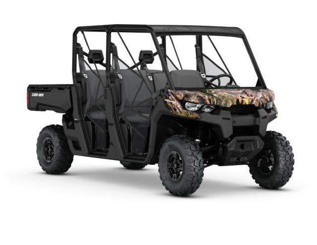 The new 2017 Defender MAX DPS HD8 from Can-Am in Mossy Oak Break-up Camo.