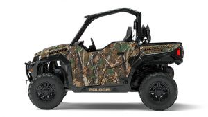 Also new for model year 2017 is the General 1000 EPS Hunter Edition in Polaris Pursuit Camo.