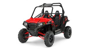 At a lower price point is the new RZR S 570 EPS in Indy Red.