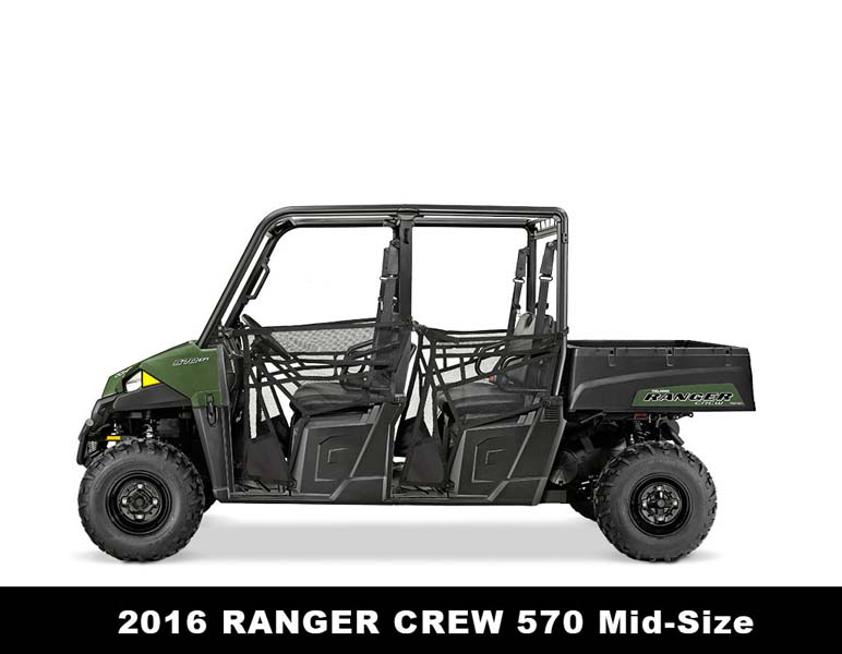 The 2016 Polaris Ranger Crew 570 Mid-Size is one of the range of model year 205 and 2016 Ranger 570 models being recalled.