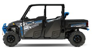 The High Lifter special edition Ranger Crew XP 1000 EPS for mud riding in Titanium Matte Metallic.