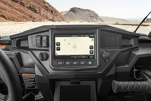 The Ride Command display for the new Ride Command technology from Polaris.