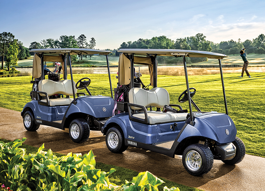 The new Drive2 fleet golf cars from Yamaha.