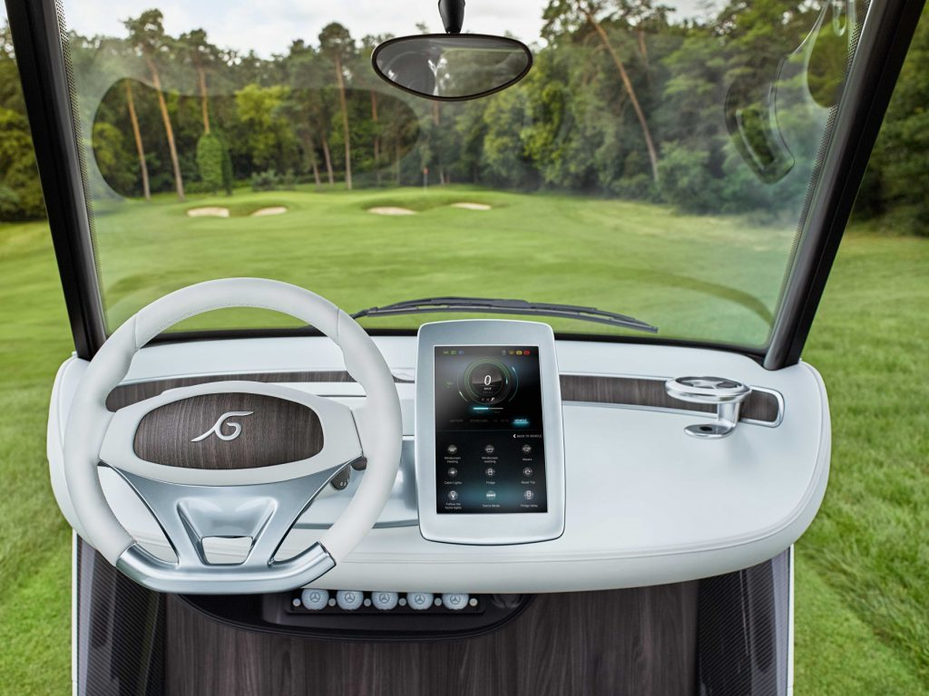 An interior view of Garia's latest luxury model.