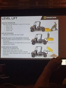 Hustler Level Lift technology