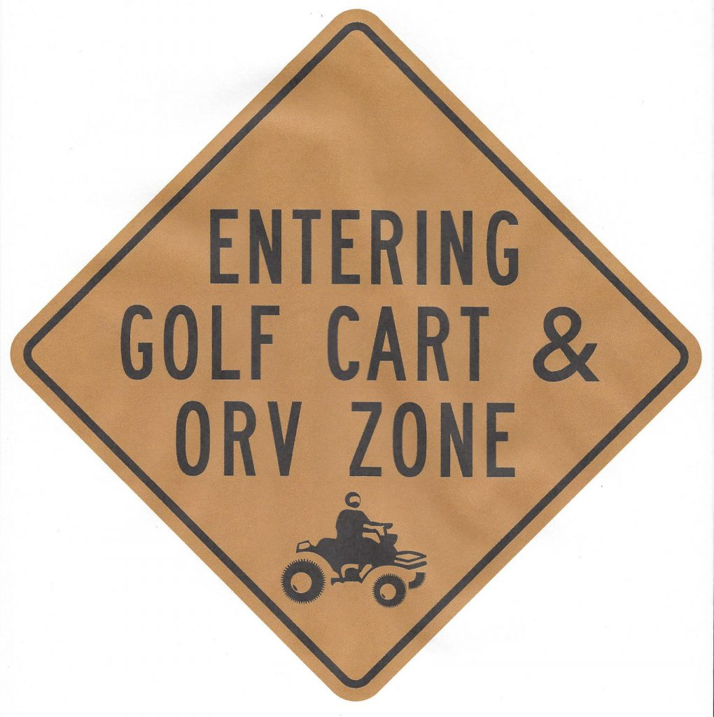 golf cart sign