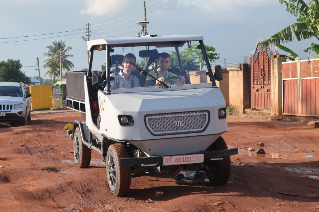 aCar electric utility vehicle