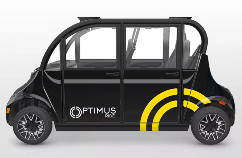 Optimus Ride autonomous vehicle