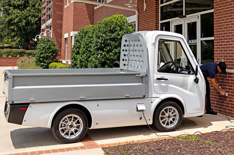 Club Car 411 utility vehicle in pickup configuration