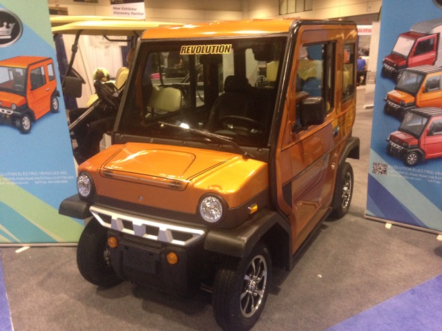 The new Revolution 4-seater LSV from Evolution Electric Vehicles