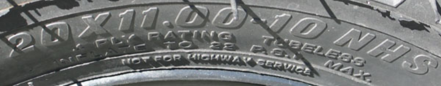 tire sidewall rating